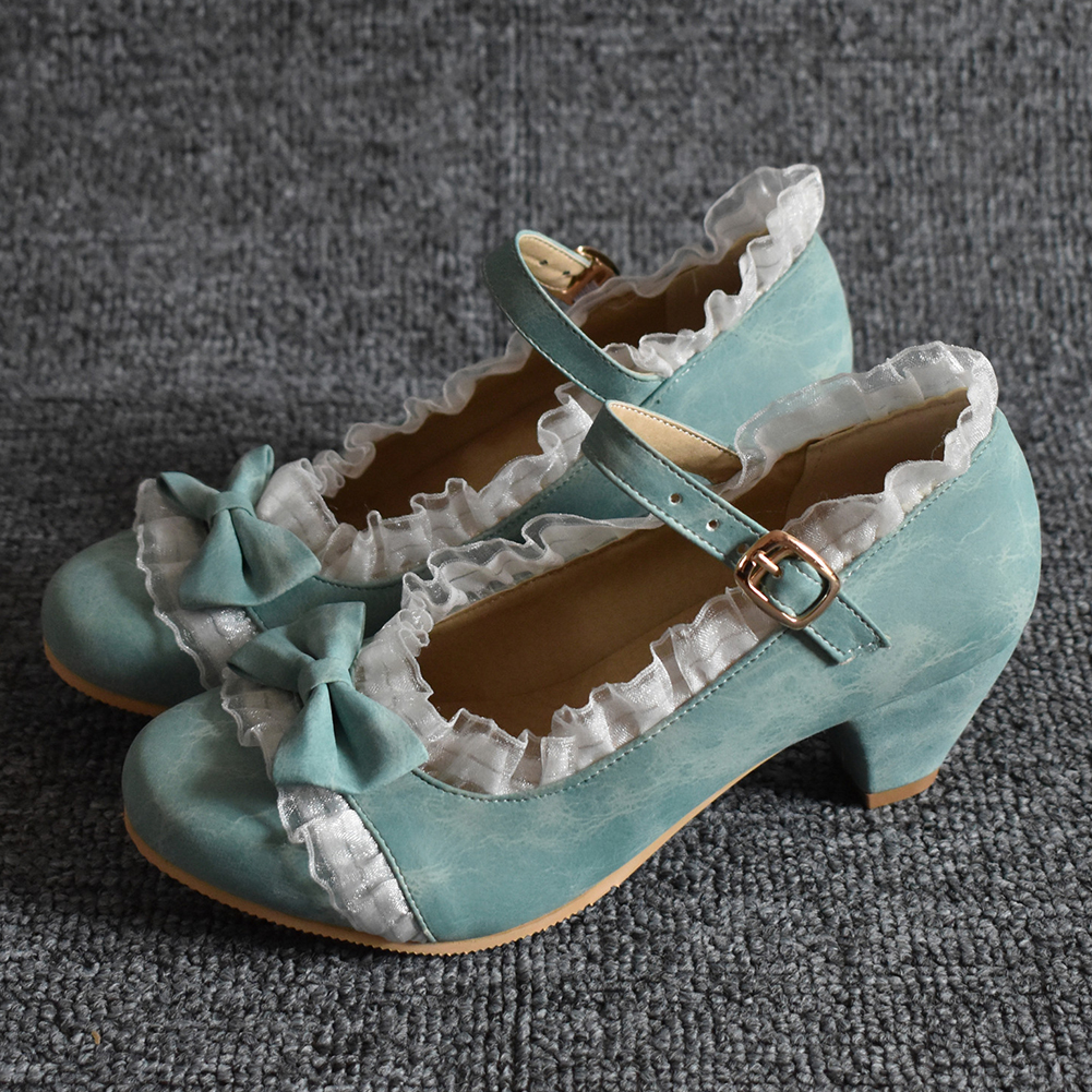 Karinluna 2020 Dropship Top Quality Big Size 48 Sweet Mary Janes Pumps Chunky Heels Women Lolita Shoes Woman