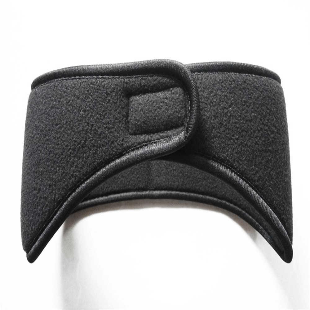 Unisexe chapeaux femmes hommes oreille plus chaude hiver bandeaux polaire Ski oreille Muff Stretch Spandex bandeau cheveux accessoires 903