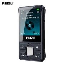 원래 RUIZU X55 블루투스 MP3 플레이어 휴대용 미니 클립 스포츠 음악 플레이어 지원 FM, 녹음, 전자 책, 비디오, 보수계