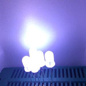 Image 5 - 1000 sztuk biała dioda LED 5mm rozproszone białe emitowanie światła diody jasność 5mm LED Diodo Diodi biały zestaw diod LED