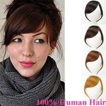 Натуральные человеческие волосы на заколках, густая челка, натуральные челки на заколках, прямые волосы коричневого цвета с бахромой для наращивания, Halo Lady