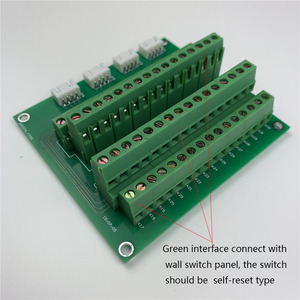 Image 3 - 32 Channel Expansion Terminal Light Curtain Wall Self Reset Switch Panel Board For KC868 Smart Home System Manual Control