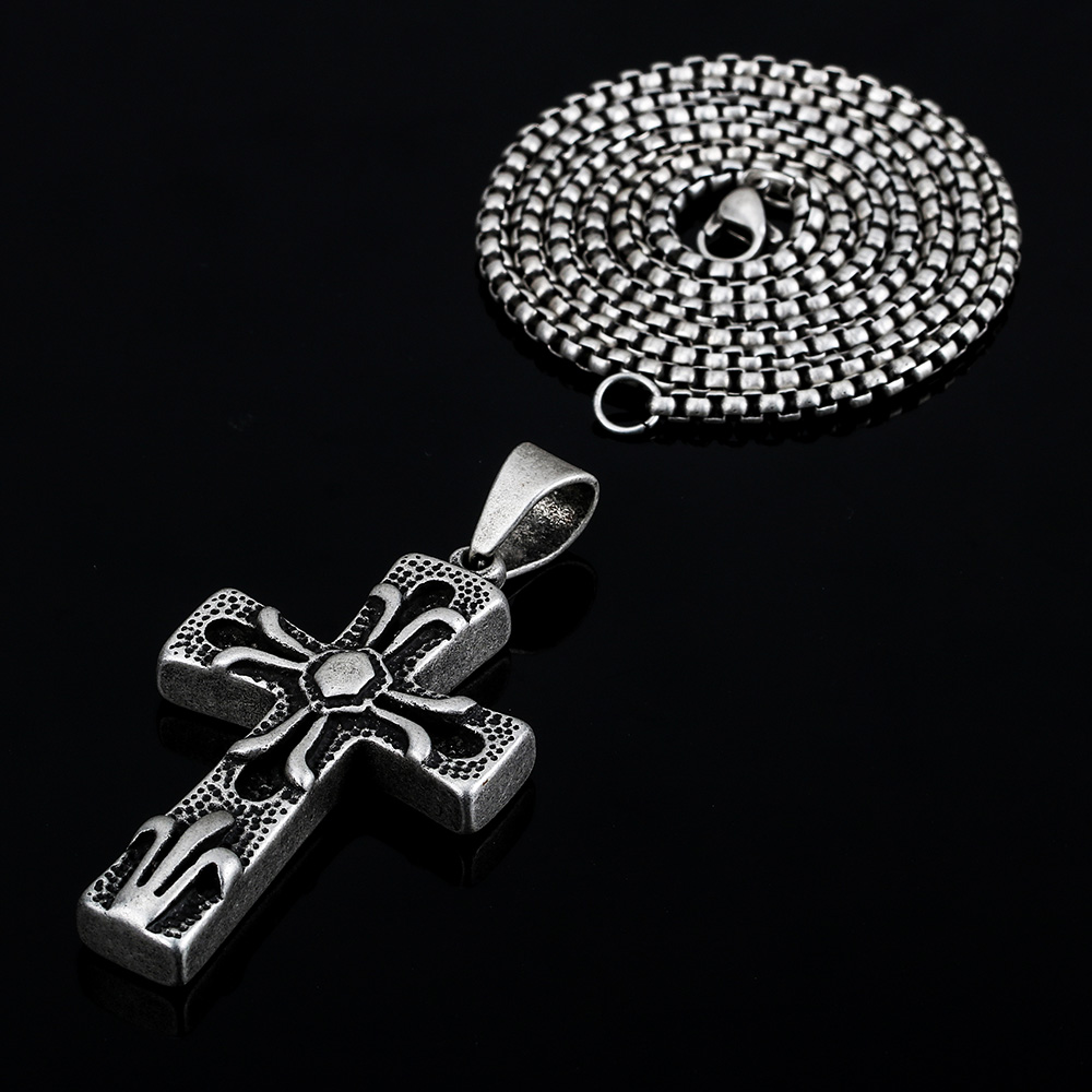 BOFEE style fashion chain necklace cross pendant