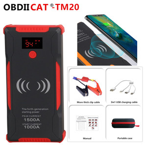 High capacity TM20 car jump starter Power Bank 1500A Portable Car Battery Booster Charger 12V Starting Device For Petrol Diesel
