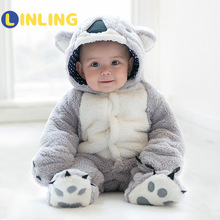 LINLING Infant Cute Clothing Baby Boys Koala Clothes Autumn Winter Newborn Baby Rompers