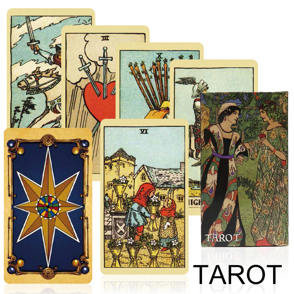 2019 Classical Smith Tarot Cards Deck Factory Made High Quality Divination Fate For Personal Use Cards Game, Board Game