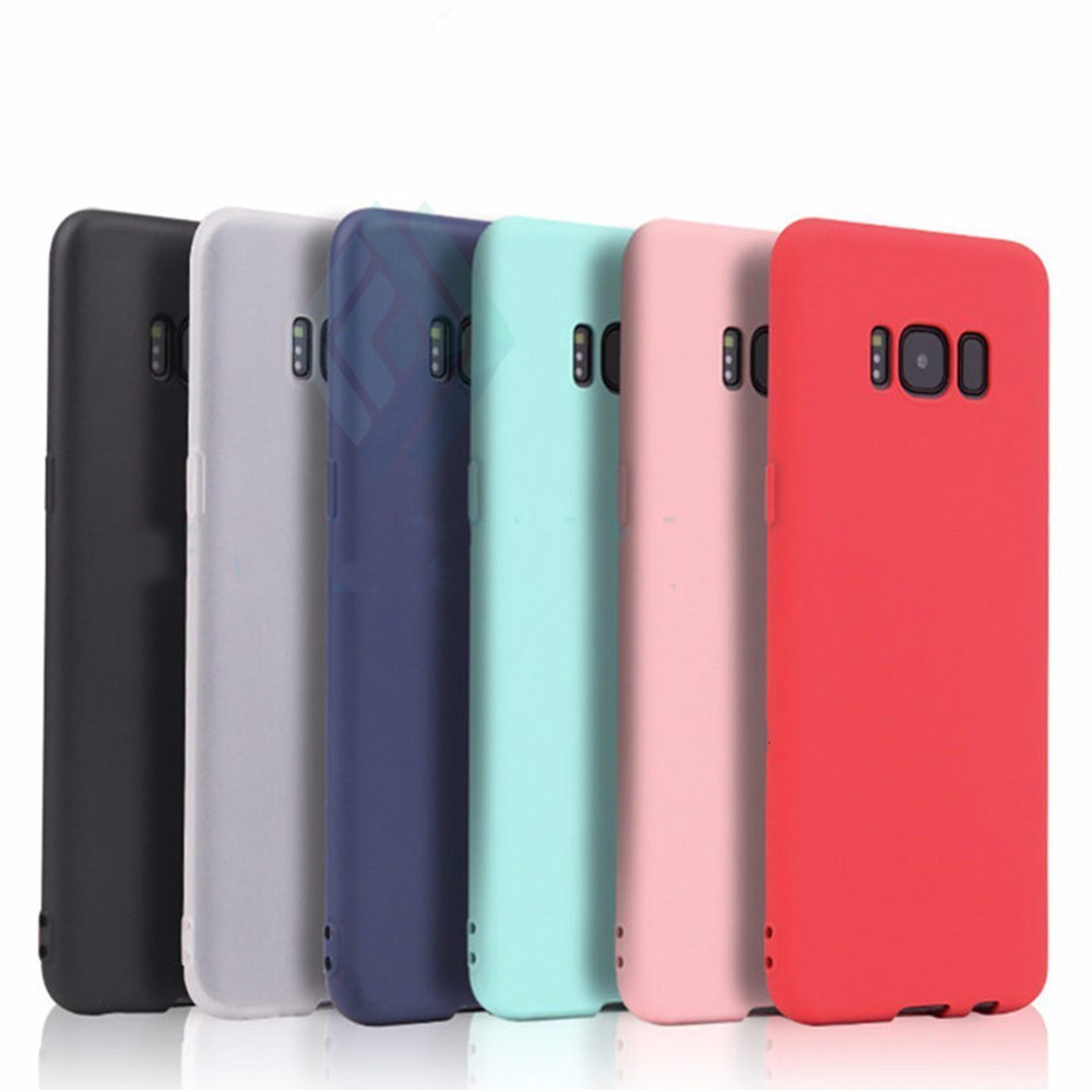 Cute Candy Colors Soft TPU Case For Samsung Galaxy A3 A5 A7 A6 A8 S8 S9 J3 J4 J5 J6 2017 2018 Plus Note 8 9 Cover image