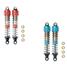 2Pcs Front Rear Shock Absorber Fit for XLH 9115 S911 9116 S916 9125 1/10 1/12 RC Car Upgrade Accessories(China)