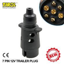 Trailer-Plug Towbar 7-Pin 12V Black TIROL 7-Pole T22777b Frosted-Materials N-Type P3