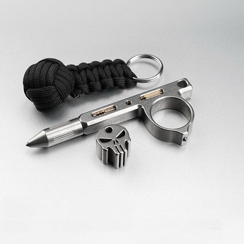 EDC Titanium Alloy Tactical Pen Tungsten Steel Head Self Defense Broken Window Portable Multi-function Personal Survival Tool