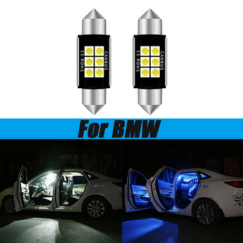 2pcs LED Light 12v 36mm Canbus C5W Bulbs Lamp 3030 Interior Lights License Plate Light For BMW E39 E36 E46 E90 E60 E30 E53 E70 image