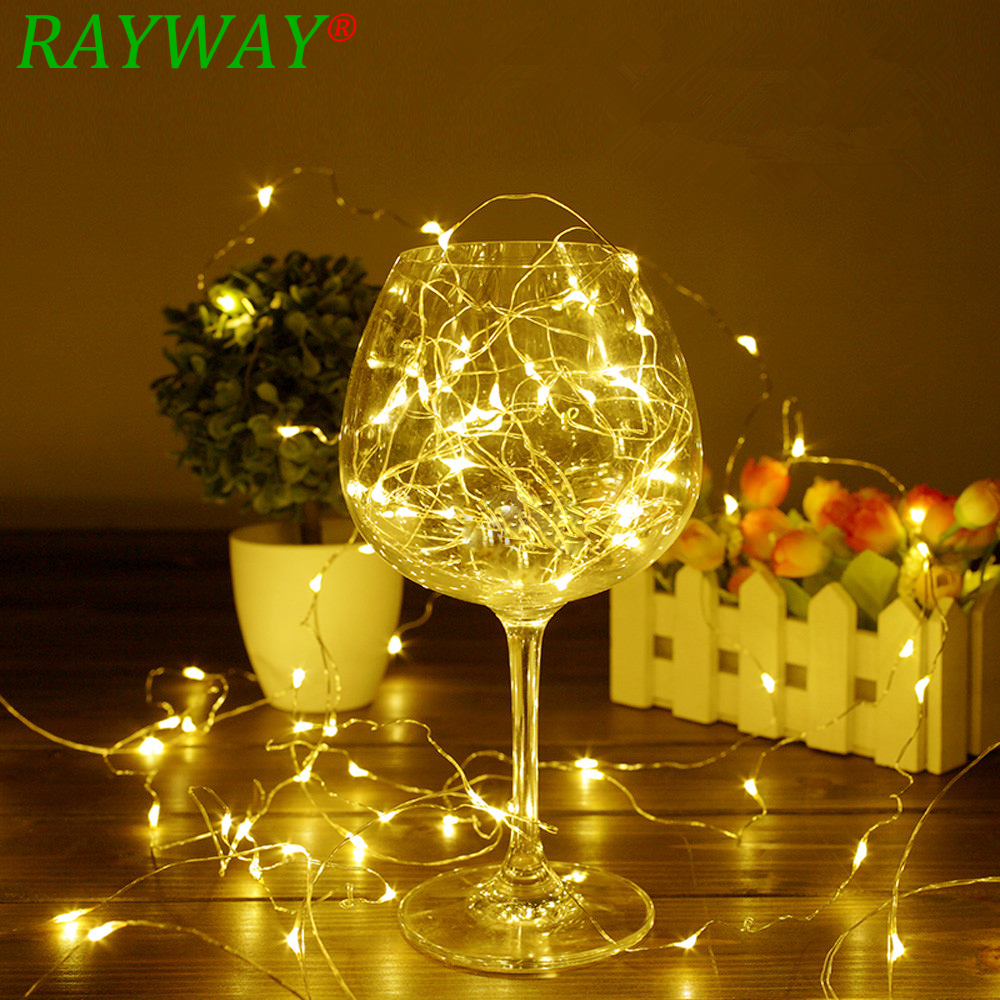 Garland 10M LED Starry String Battery Lights Fairy Micro LED Transparent Copper Wire For Party Christmas Wedding