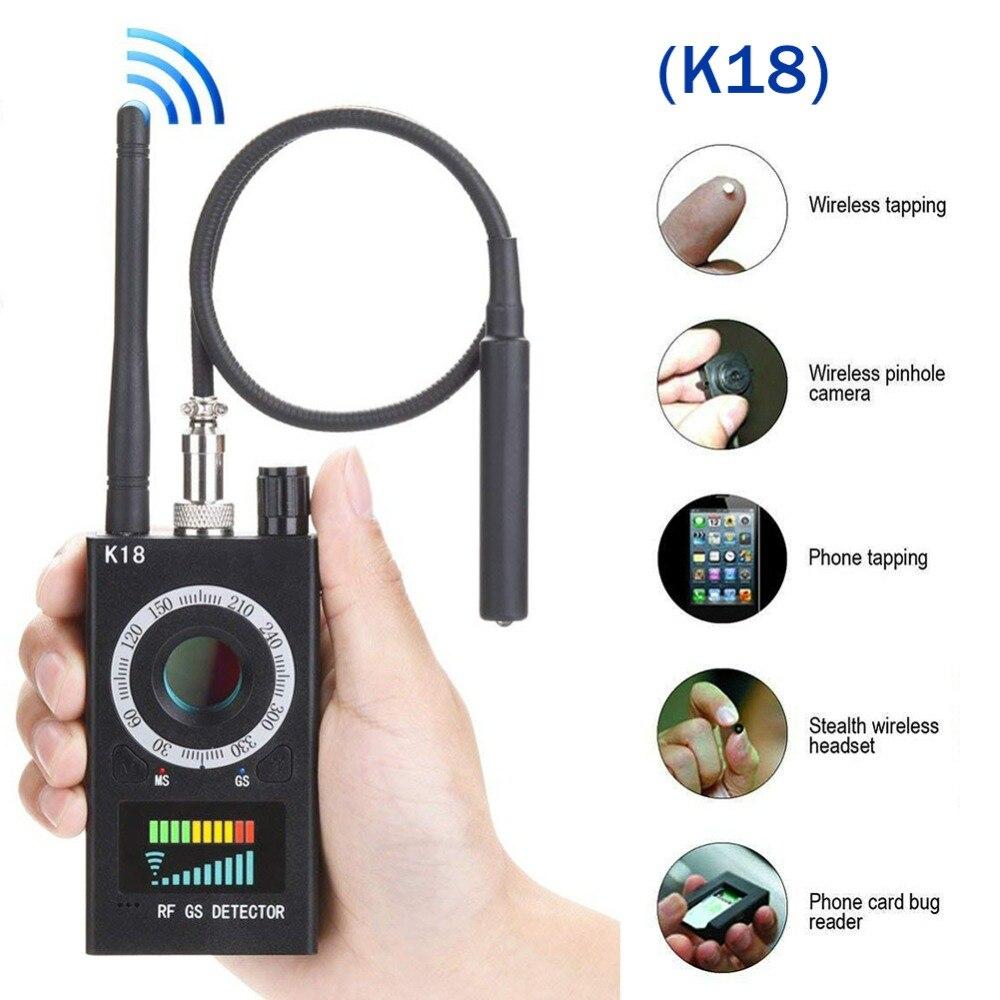 Многофункциональный антидетектор K18 1 МГц-6,5 ГГц, камера GSM, обнаружитель звуковых сигналов, GPS, объектив сигнала, РЧ трекер, обнаружитель, рад...