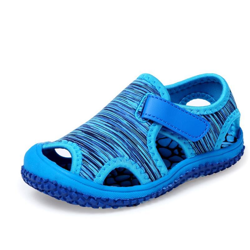 Spring Summer Baby Girls Boys Sandals Children Beach Sandals Soft Bottom Non-slip Infant Shoes Kids Outdoor Anti-collision Shoes