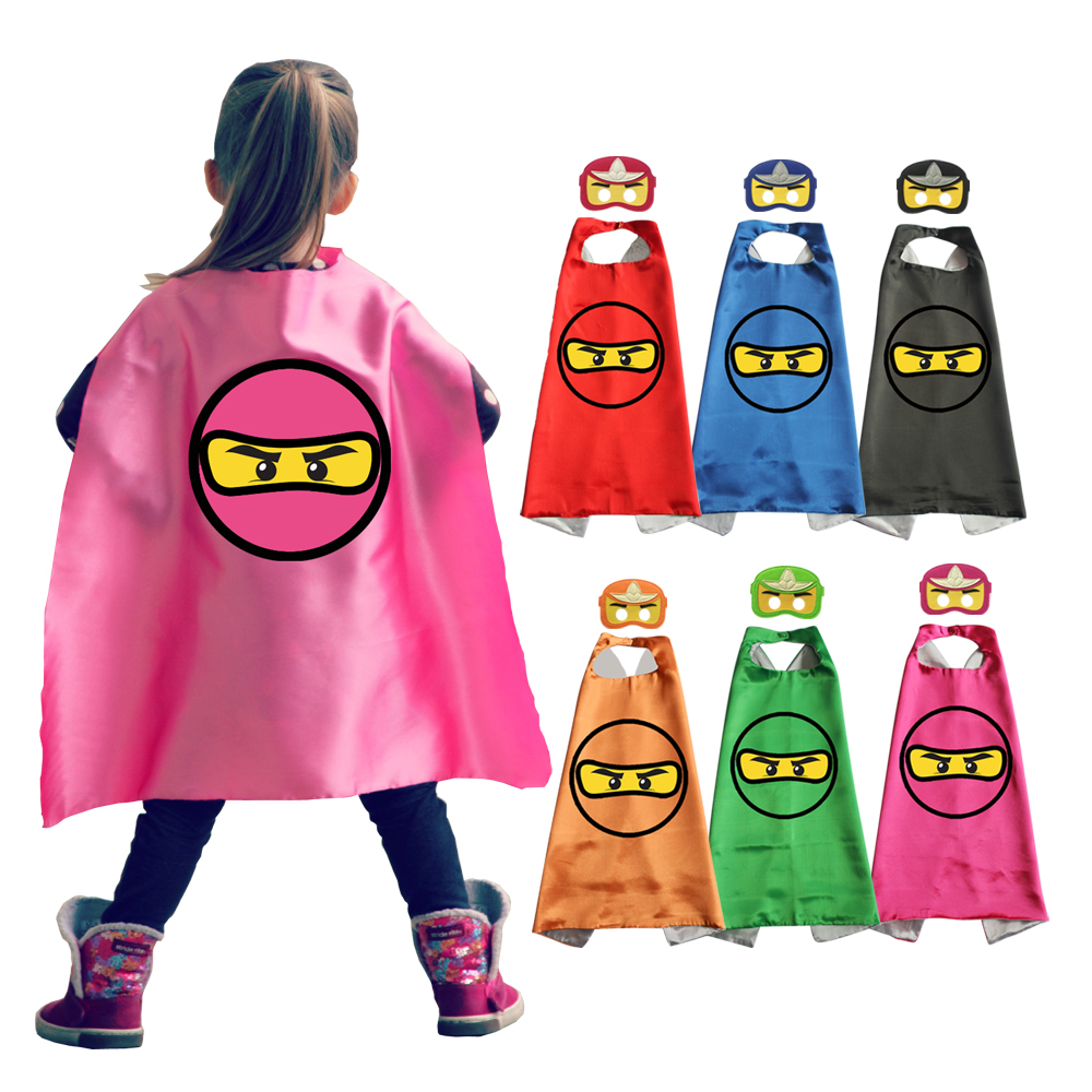 Superhero Capes Masks Kids Party Favors Costumes Dress Up Cosplay Cloaks Coats