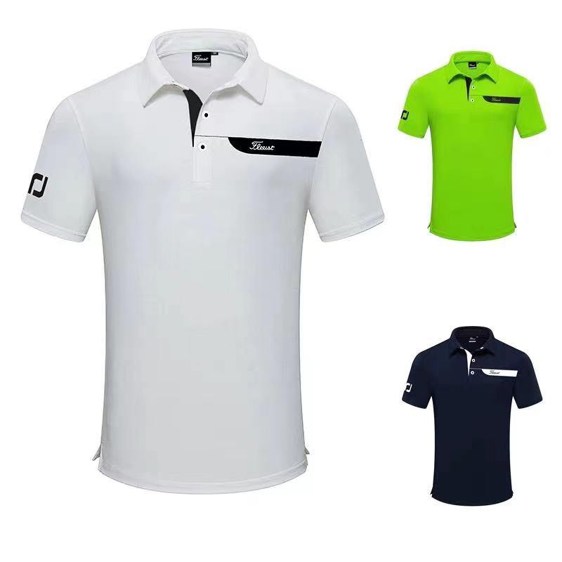 Summer new golf short-sleeved T-shirt men's lapel golf breathable leisure outdoor sports POLO shirt quick-drying tide