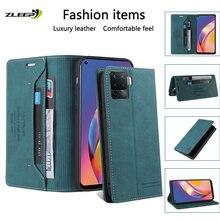 Leather Flip Case For OPPO Find X3 A94 A93 A92 73 A72 A53 A52 A15 Realme 7 GT C11 C15 F17 F19 Pro Reno 4 Lite 4Z Phone Bag Cover
