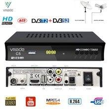 DVB T2 DVB S2 HD דיגיטלי יבשתי טלוויזיה בלווין מקלט Combo DVB S2 H.264 MPEG4 טלוויזיה מקלט תמיכת Youtube Bisskey סט למעלה תיבה