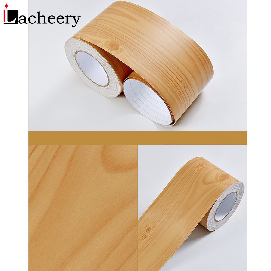 5M/10M PVC Waterproof Waist Line Wood Marble Self Adhesive Skirting Line Wallpaper Living Room Decor Vinyl Border Wall Stickers 5