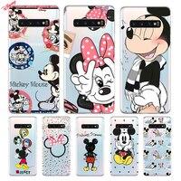 Cubierta de silicona Minnie Y Mickey para Samsung Galaxy S21 S20 FE Ultra S10 S10E Lite S9 S8 S7 Edge Plus teléfono caso