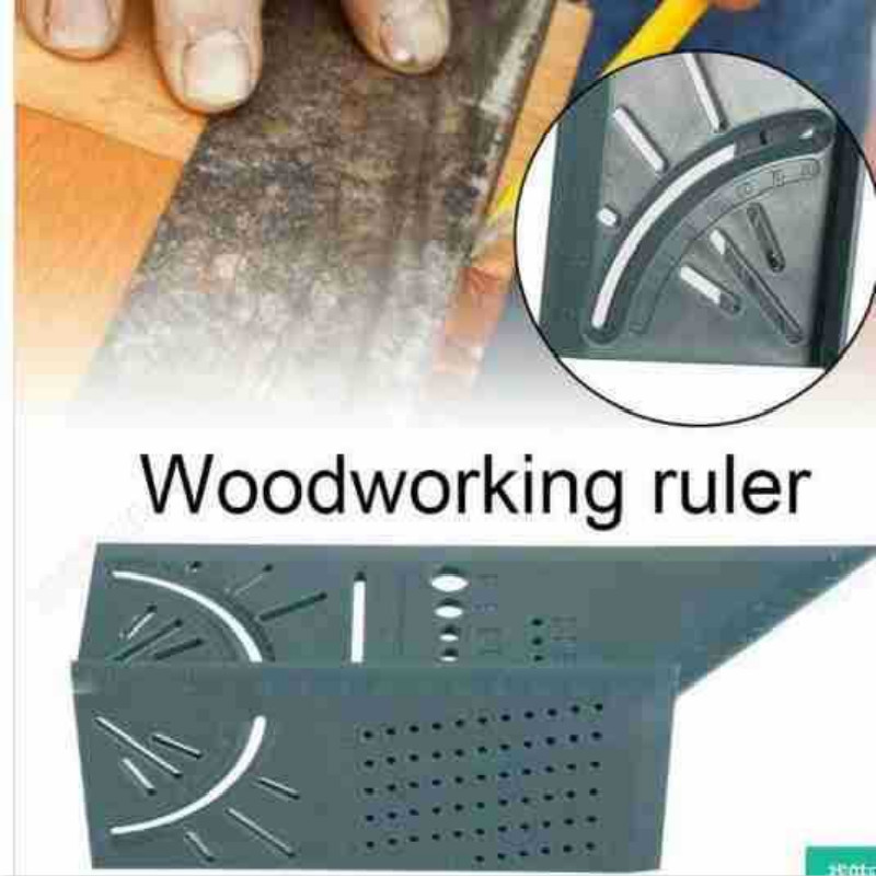 2019 Woodworking 3D Mitre Angle Measuring Square Size Measure Tool With Gauge Ruler Tools With Carpenter Pencil
