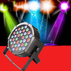 LED Par RGBW doprowadziły etap światła lampa Par dla Disco DJ żarówka jak strona dekoracji 100 240V sterowanie głosem DMX512 etap światła w Oświetlenie sceniczne od Lampy i oświetlenie na