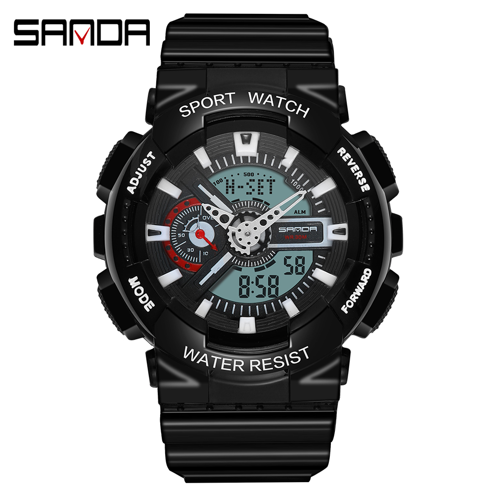 2020 SANDA Military Men's Watch Top Brand Luxury Waterproof Sport Wristwatch Fashion Quartz Clock Couple Watch relogio masculino 25