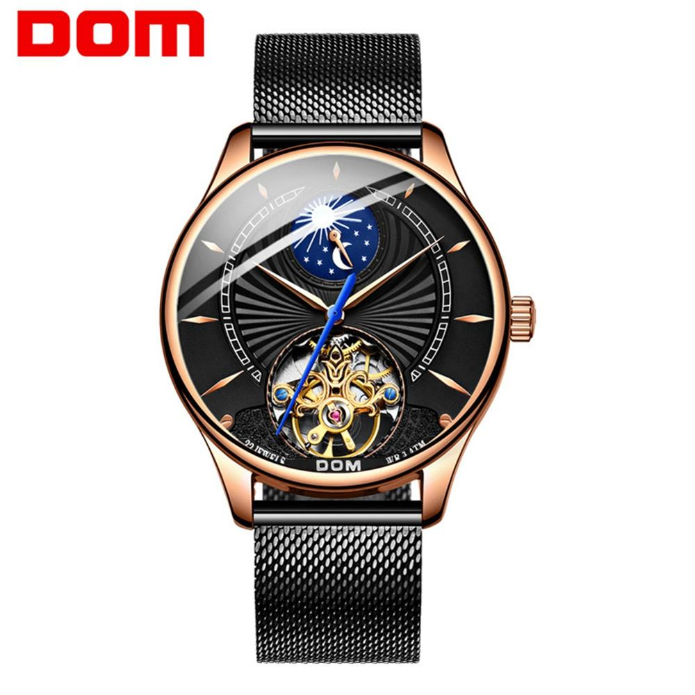 Mechanical Watches Sport DOM Watch Men Waterproof Clock Mens Brand Luxury Fashion Wristwatch Relogio Masculino M-1260GK-1M
