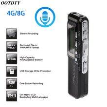 4 GB/8 GB USB kalem dijital ses kaydedici ses aktif dijital ses kaydedici Mp3 çalar kulaklık