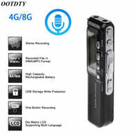4 Gb/8 Gb Usb Pen Digital Voice Recorder Voice Attivato Digital Audio Voice Recorder Mp3 Player Dittafono