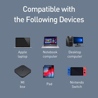 Baseus USB Ethernet Adapter 2 in 1 USB Type C Network Card to 1000Mbps Ethernet HUB for MacBook Pro Mi Box 3 Switch RJ45 Lan