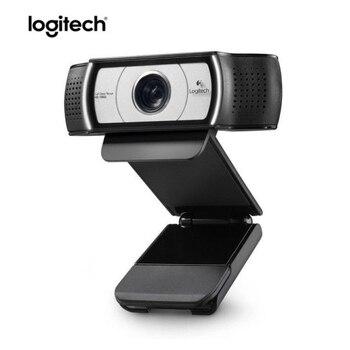 Logitech C930C HD 1080P HD Video Webcam para PC computadora portátil USB DDP de cámara Web con 4 Tiempo Zoom Digital