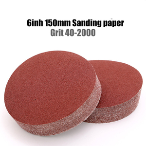 10pcs 6 Inch 150mm Grit 40-2000 Sanding Paper Discs Hook Loop Sandpaper Round Disk Sand Sheet