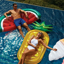 Giant Inflatable Pineapple Watermelon Float Air Mattress Swimming Ring Party Pool Float Toys Adults Child Water Bed High Quality стоимость