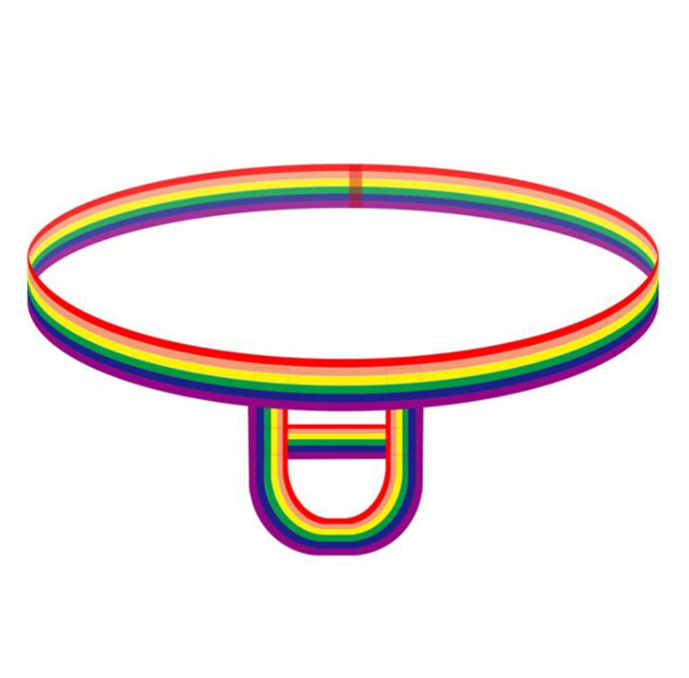 Hot Ball Cock Lifter Men Thong Penis Erect Lingerie Enhancer C Ring Strap G Strings Colorful Rainbow Underwear