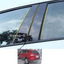 Наклейка для автомобиля Ford Kuga Escape 2013-2021 из поликарбоната, столб, крышка двери, отделка окна, пианино, Черная Пластина для формования