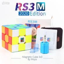 Moyu RS3M 2020 manyetik küp RS3 M sihirli hız küp mıknatıs RS3M2020 Cubo Magico bulmaca 3x3 profesyonel oyuncaklar çocuklar için