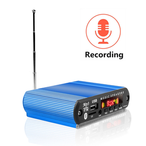 Image 3 - Recording Bluetooth5.0 Receiver 12V Car Kit MP3 Player Decoder Board Color Screen FM Radio TF USB 3.5 Mm AUX Audio For Iphone