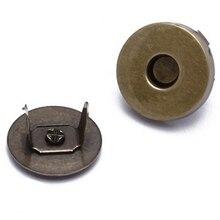 Практичный бутик 20 Набор круглых железных бронзовых магнитных кнопок для рукоделия шитья