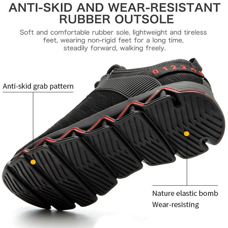 Image 4 - JACKSHIBO/Новый дизайн; Безопасная рабочая обувь; ботинки для мужчин; нескользящие ботинки со стальным носком; Мужская Строительная обувь; защитные ботинки; кроссовкиЗащитная обувь   -