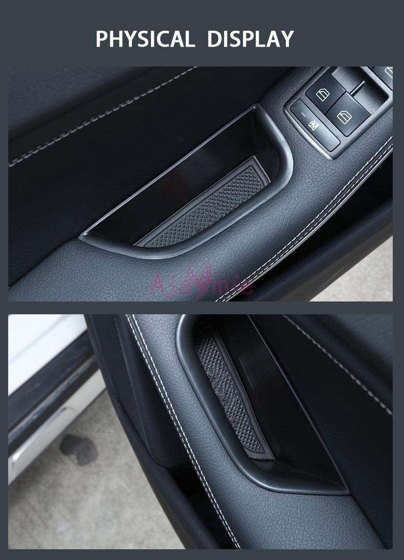 Aksesuarları Mercedes Benz bir CLA GLA sınıf W176 X156 C117 X117 2013-17 araba organizatör kapı kol dayama saklama kutusu konteyner tepsisi