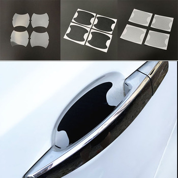 4pcs Car stickers Car Door Handle Scratches Protec For Mitsubishi ASX Outlander Lancer Colt Evolution Pajero Eclipse Cross Grand image