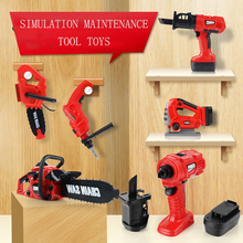 New Maintenance Tools Toy Beautiful Appearance Electric Saw Electric Simulation Maintenance Tools Pretend To Play Toy Boy Gift