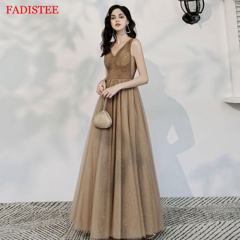 Major Beading  Deep V-Neck gold robe de soiree vestidos de fiesta de noche prom party evening dresses gown long frock