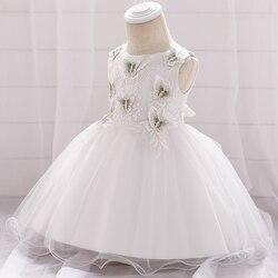 Bebê princesa vestido novo verão criança meninas vestido crianças festa wear crianças borboleta applique roupas