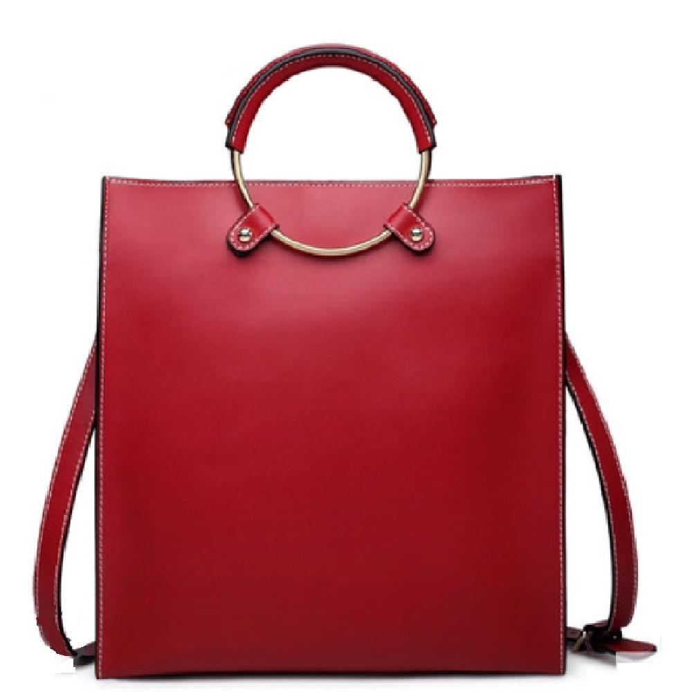 العلامة التجارية النساء أزياء جلد طبيعي أكياس مصمم جودة عالية جلد البقر حقيبة يد حقيبة كتف الإناث جراب التسوق #6988-في حقائب الكتف من حقائب وأمتعة على  مجموعة 3