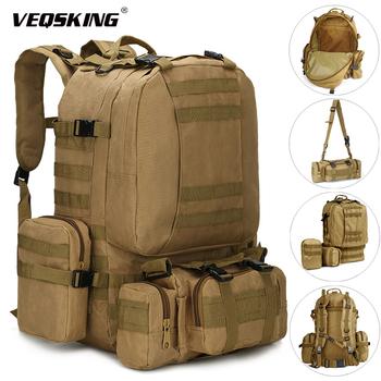 Plecaki taktyczne 25-50L plecak wojskowy męski plecak trekkingowy torba podróżna sportowa terenowa torba wspinaczkowa tanie i dobre opinie VEQSKING CN (pochodzenie) ELLEN81019 Unisex 25-50l backpack Miękka osłona NYLON