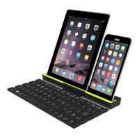 mobile cell phone tablet Bluetooth folding keyboard multi point device automatic switch machine portable keyboard