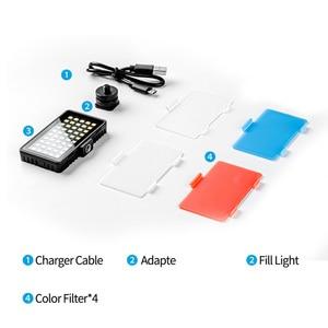 Image 5 - TELESIN Vlog remplir lumière LED chaussure froide Mini vidéo lumière couleur filtre Portable éclairage photographique pour Smartphone DSLR reflex lampe