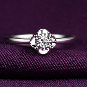 18K Gold Male And Female Couple Ring Platinum Diamond Ring Wedding Marriage Proposal Diamond Ring Genuine Rose Gold Platinum 2